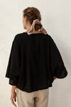 Pablo Top - Black - 100% Cotton Gauze