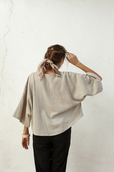 Pablo Top - Natural Fawn - Linen Blend