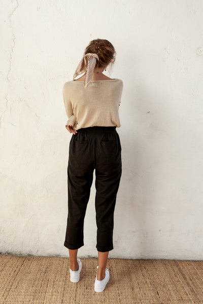 Winslow Pants - Black - Linen Blend
