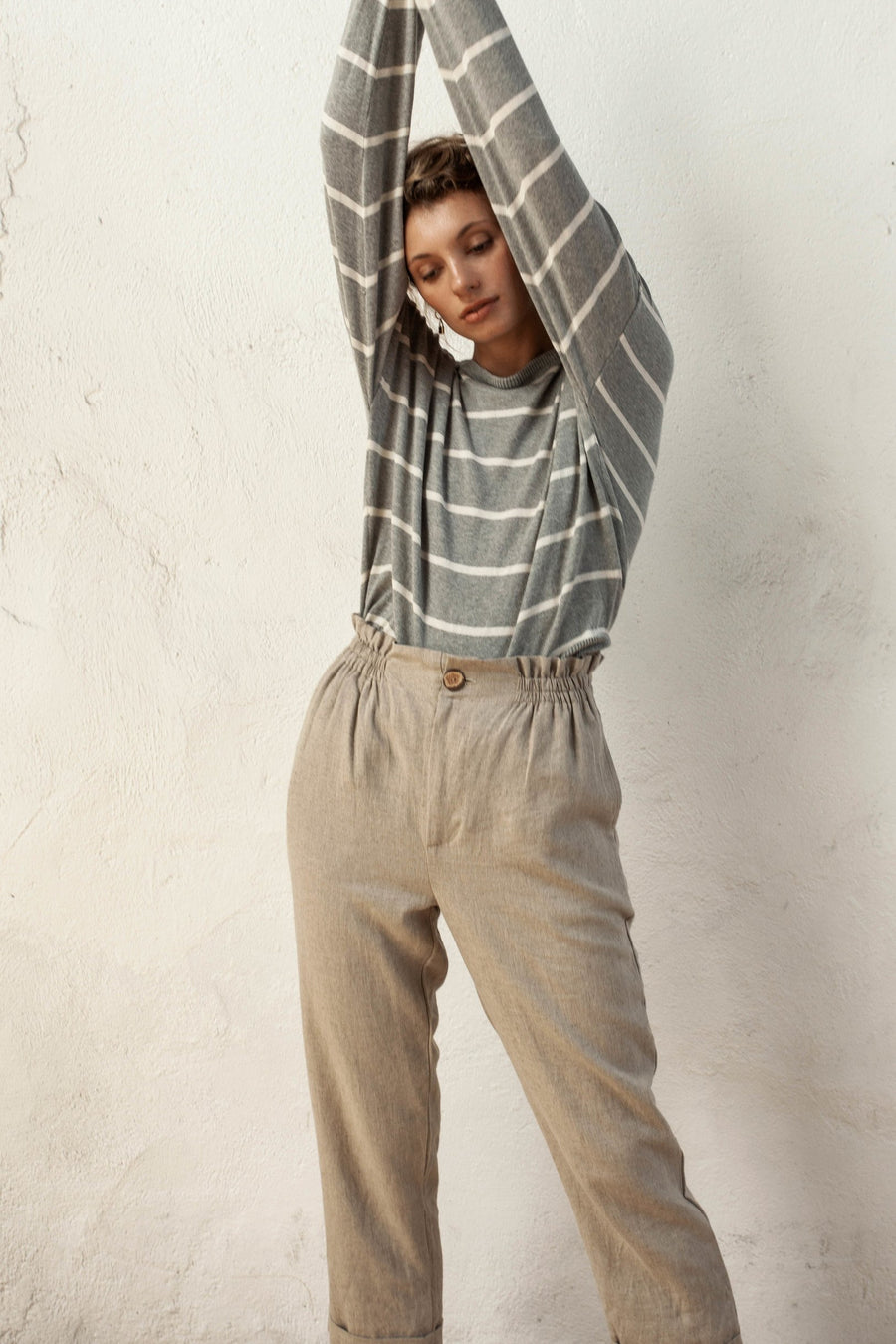 Winslow Pants - Natural Fawn - Linen Blend