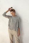 Marcel Jumper - Silver Marle - 100% Cotton Yarn