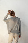 Sandro Light Sweater - Silver - 100% Cotton Yarn