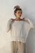 Sandro Light Sweater - Creme - 100% Cotton Yarn