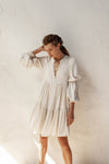 Bridgette Dress - Natural Wheat - Linen Blend