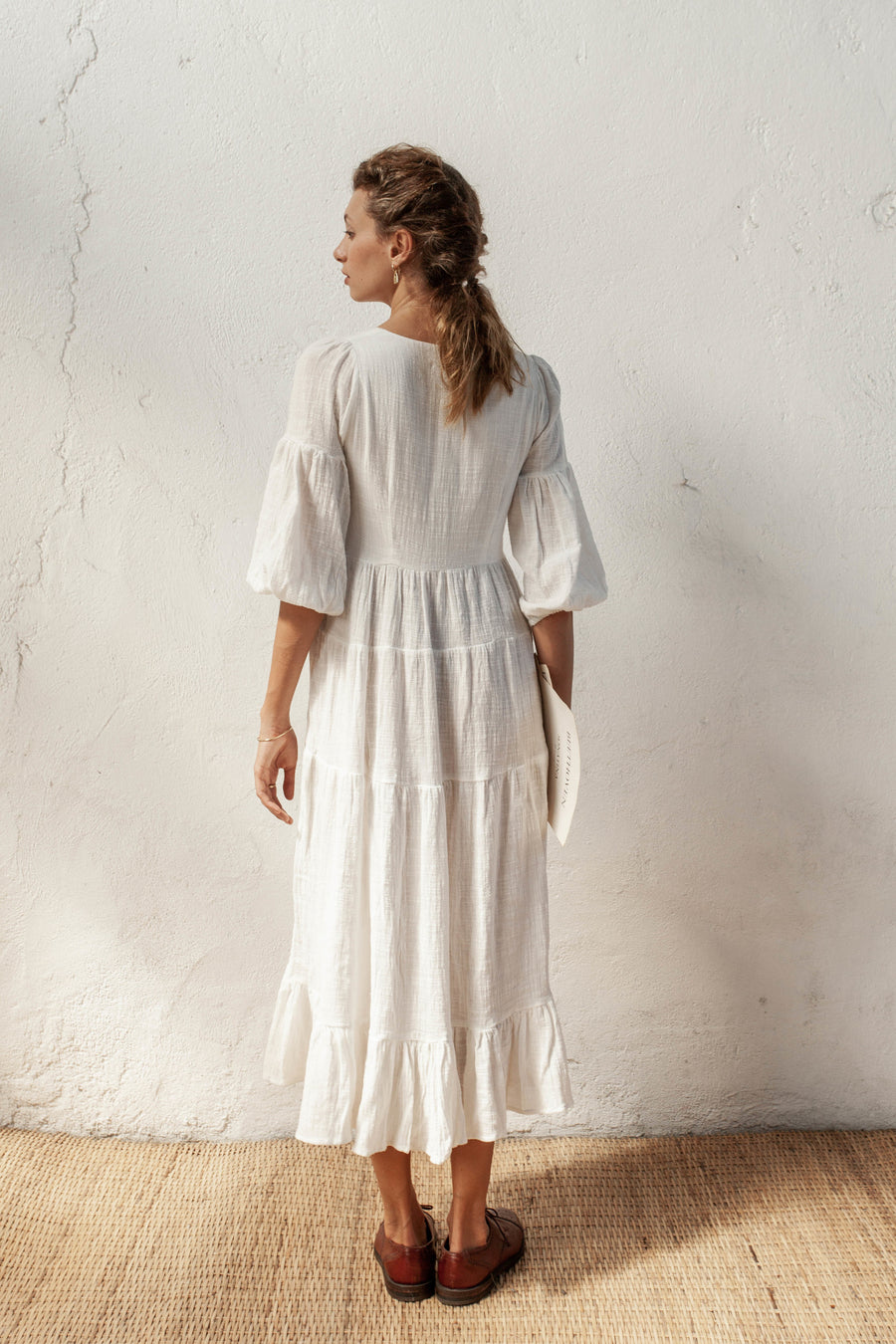 Stevie Dress - Ivory - 100% Cotton Gauze