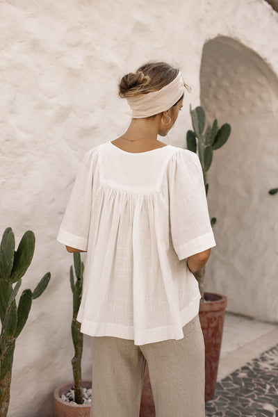 Bonita Top - Coconut White