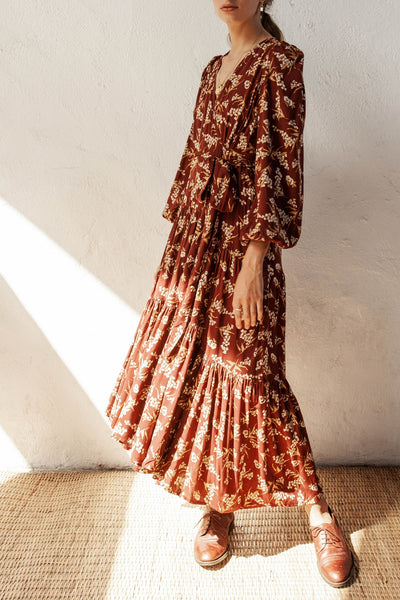 Brava Dress - Native Blooms - Natural Wood Fibre Rayon