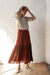 Rosalita Skirt - Merlot - Natural Wood Fibre Rayon Slub