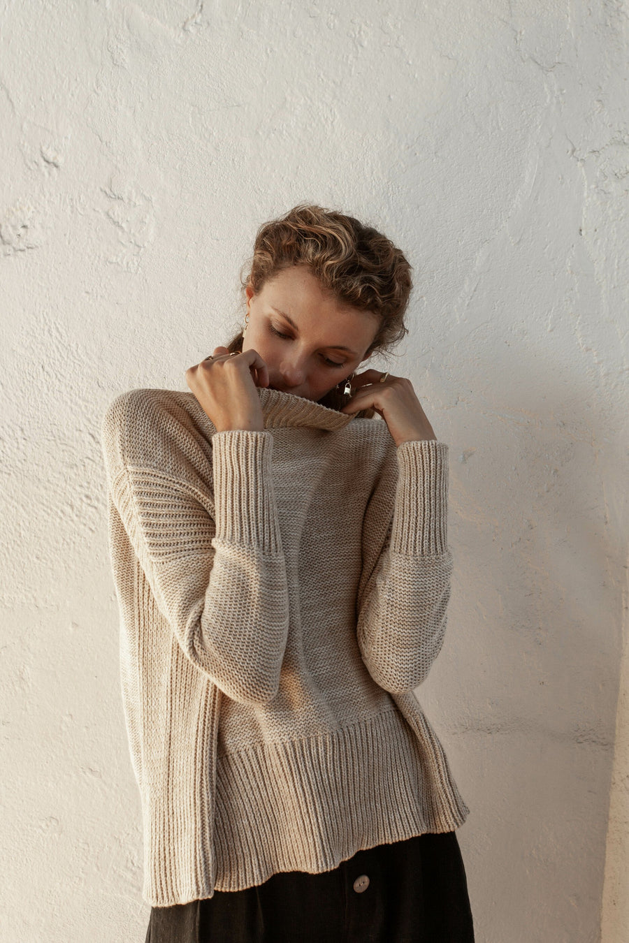 Sandro Jumper - Fawn Marle - 100% Cotton Yarn