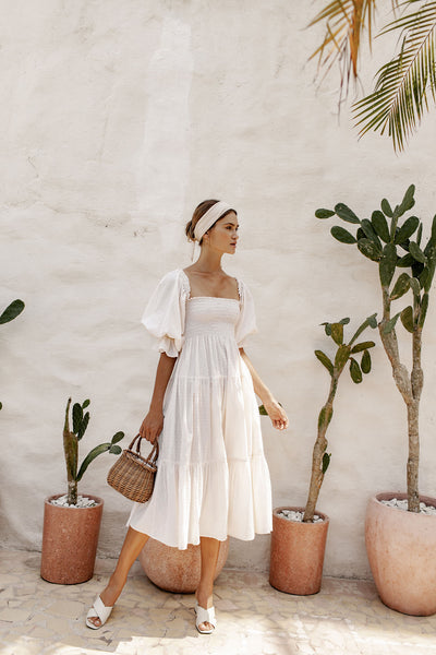 Isabella Dress - Rose Milk