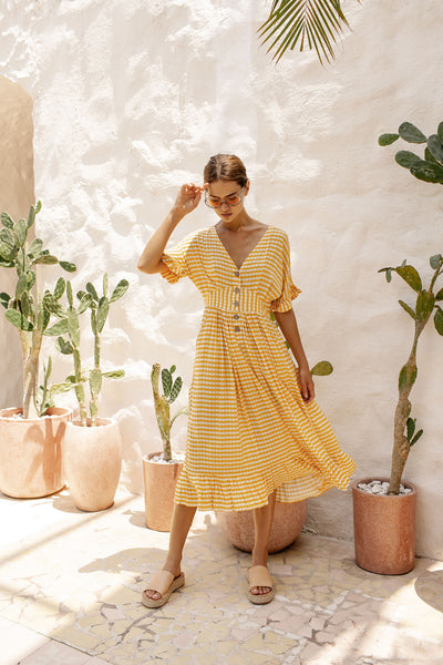 Evie Dress - Sunflower