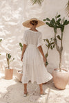 Evie Dress - Coconut White