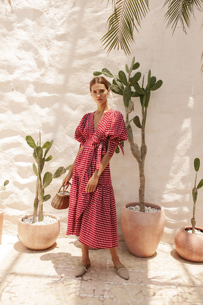 Paloma Wrap Dress - Sangria