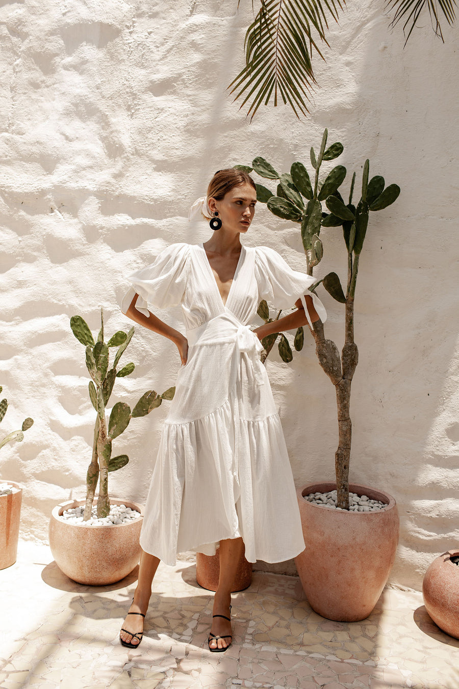 Paloma Wrap Dress - Coconut White - PRE ORDER R2