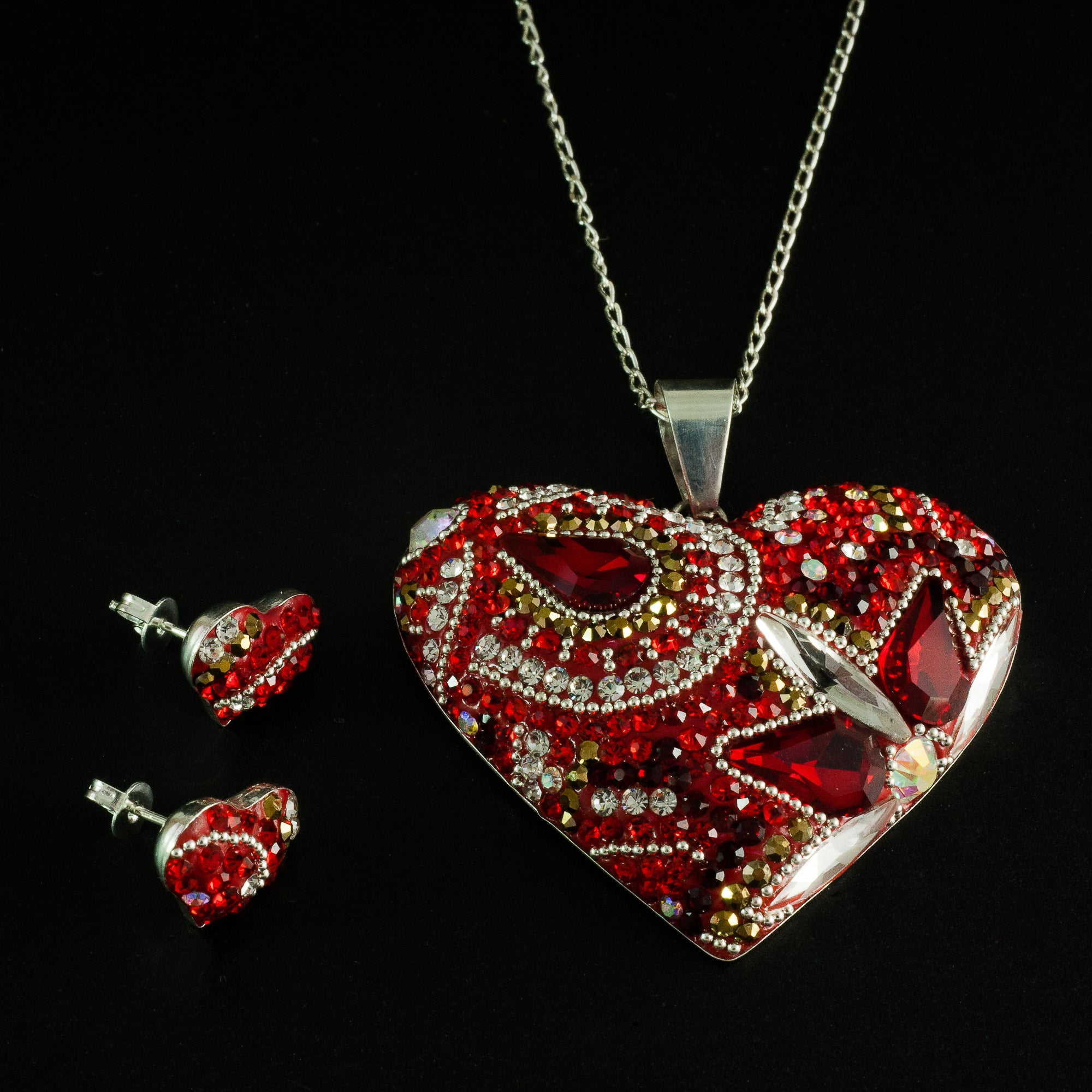 ghost lyst in pendant jewelry gucci gallery red egg necklace silver sterling heart