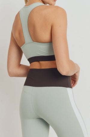 Sports Bra - Sage Colorblock