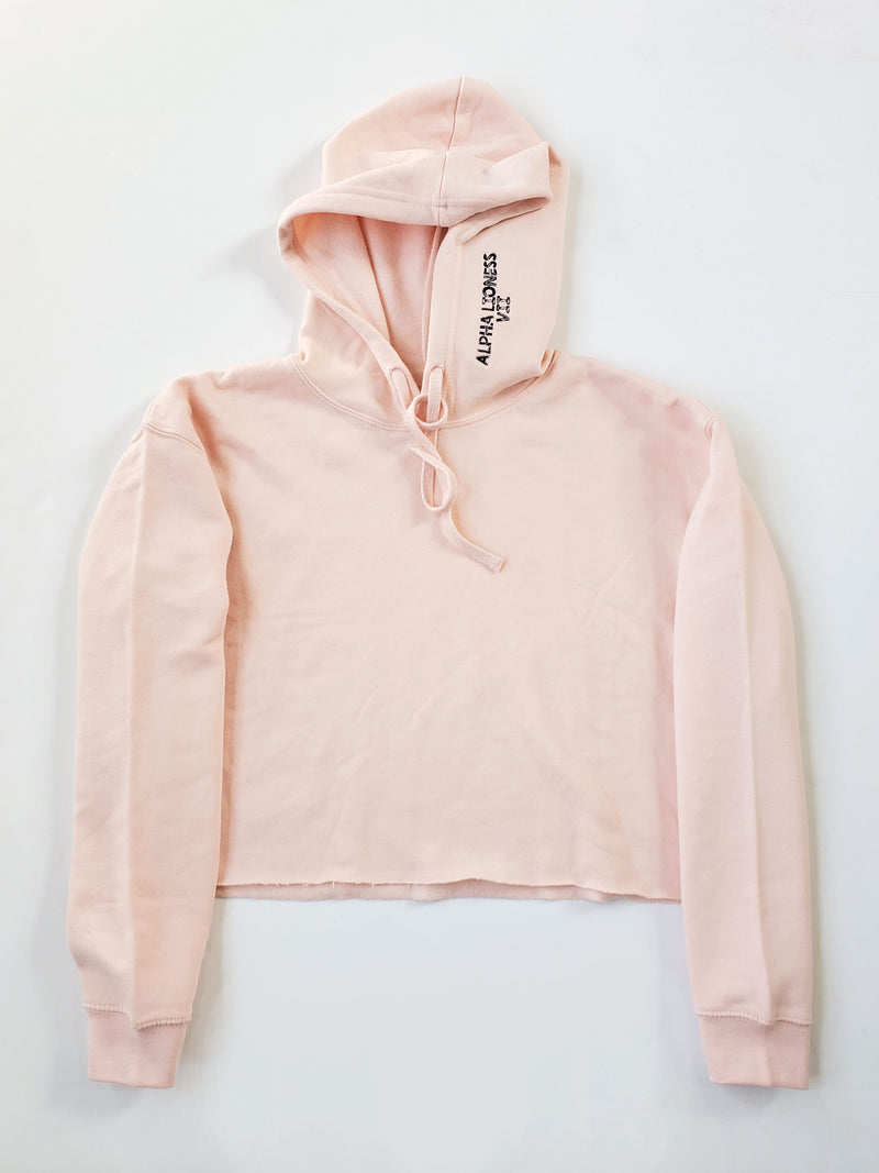 Paw Scratches - Pink Crop Hoodie