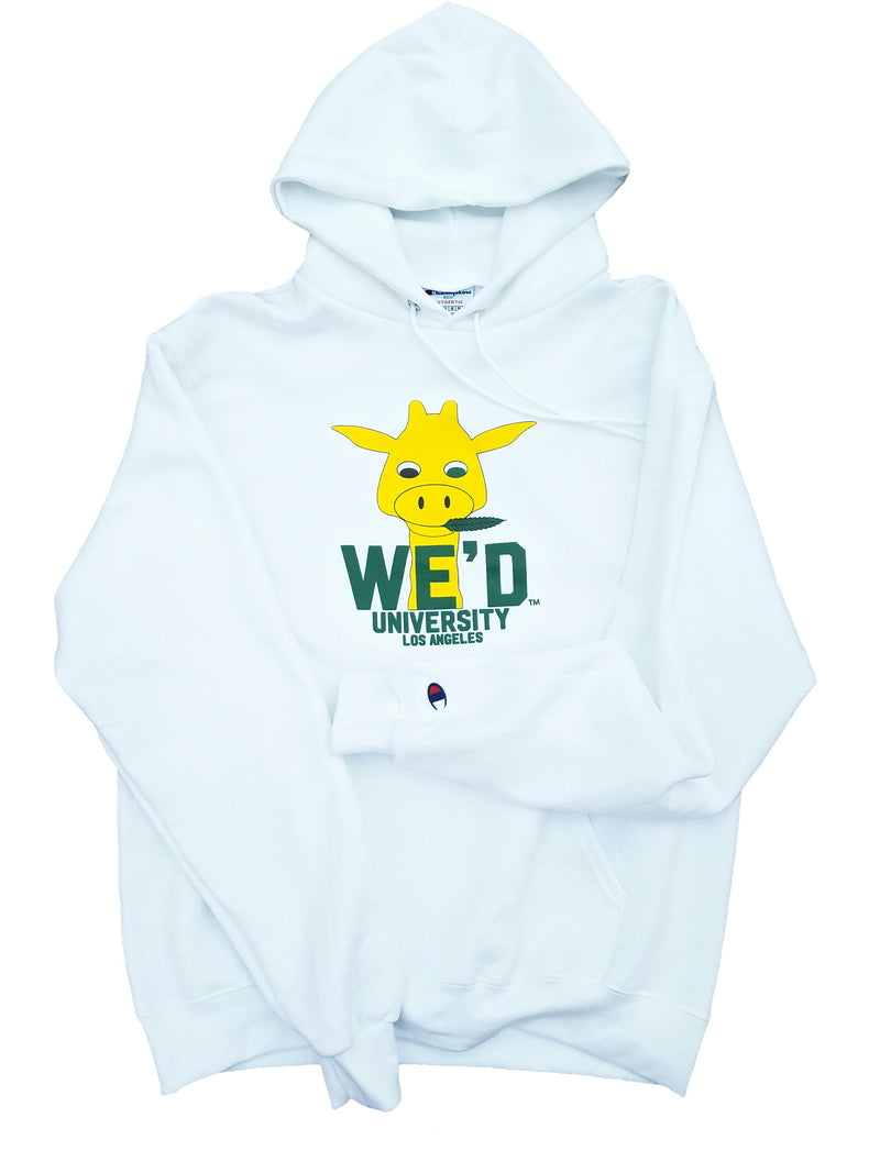 WE'D X CHAMPION - White Giraffe Hoodie