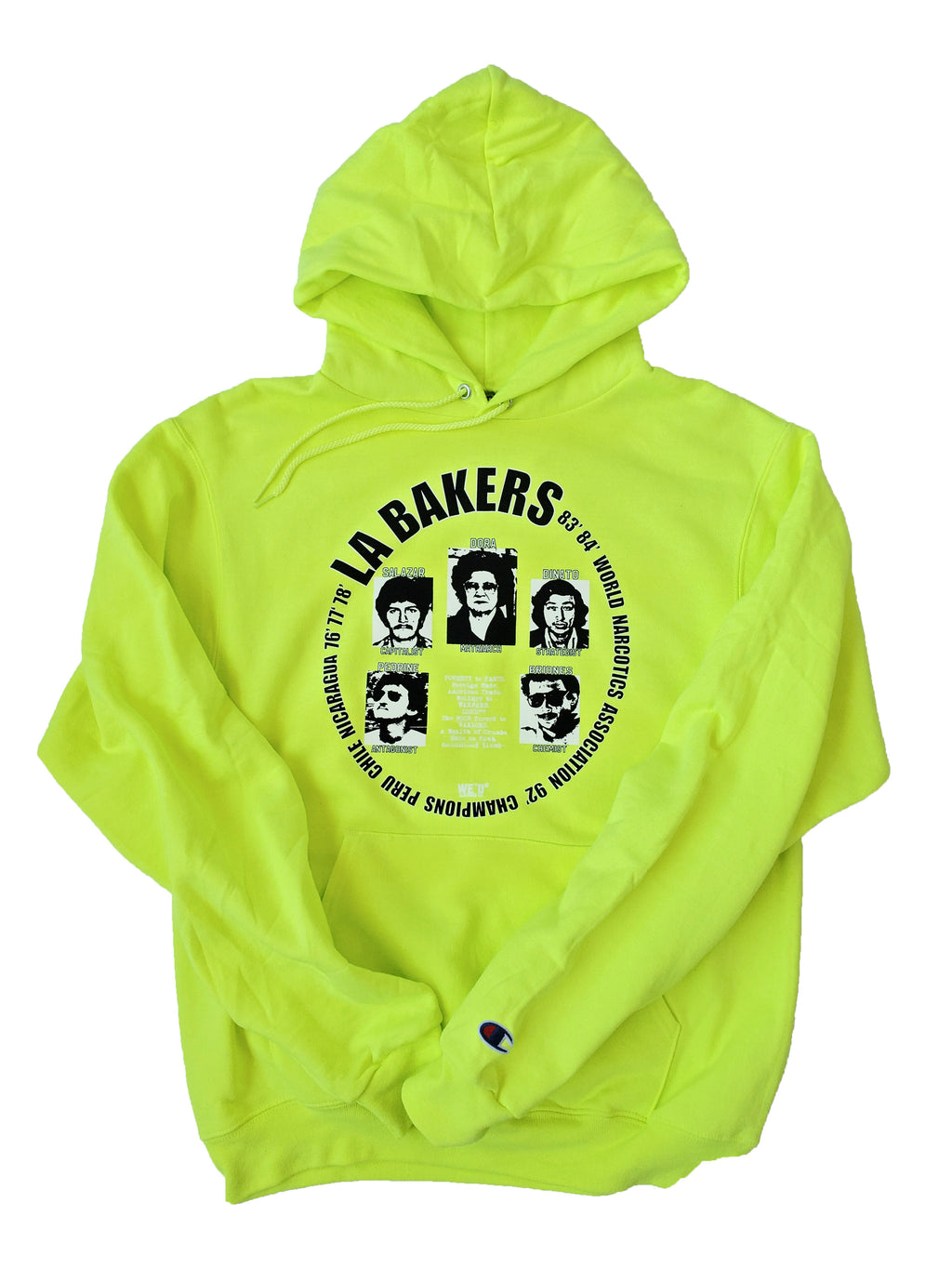 LA Bakers x Champion - Safety Yellow Hoodie