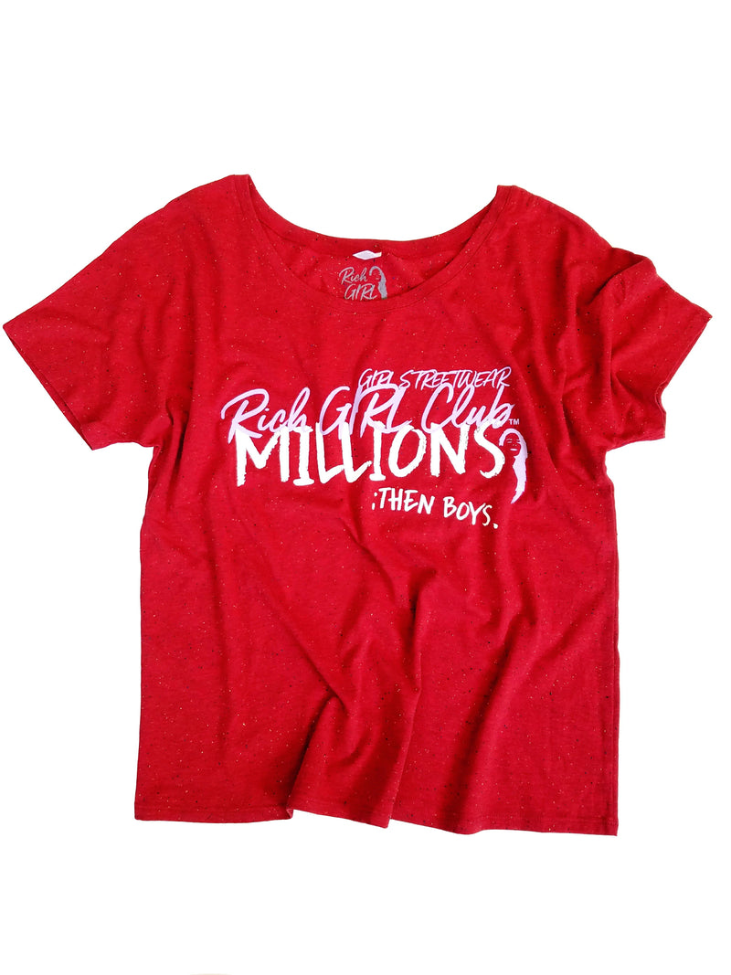 THE MILLIONS - Red Speckle Tee