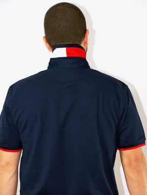 Boss Angeles x Tommy Hilfiger Navy Polo