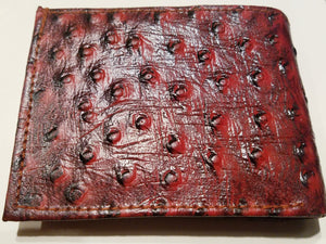 Ostrich Replica Genuine Leather Wallet
