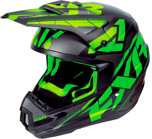 FXR Torque Core Black Lime Helmet