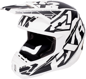 FXR Torque Core White Black Helmet