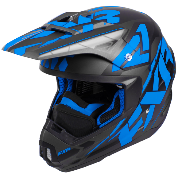 FXR Torque Core Black Blue Helmet