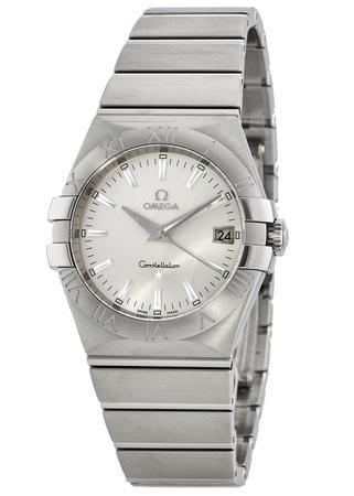 65a4b1c440be7 Omega Constellation Quartz 35mm Silver Dial Steel Unisex Watch  123.10.35.60.02.001