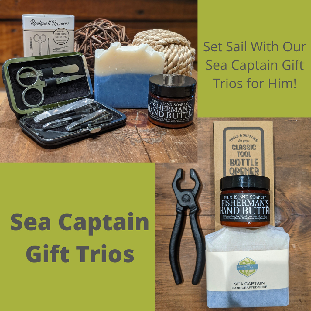 Sea Captain Gift Trio Sets for Him