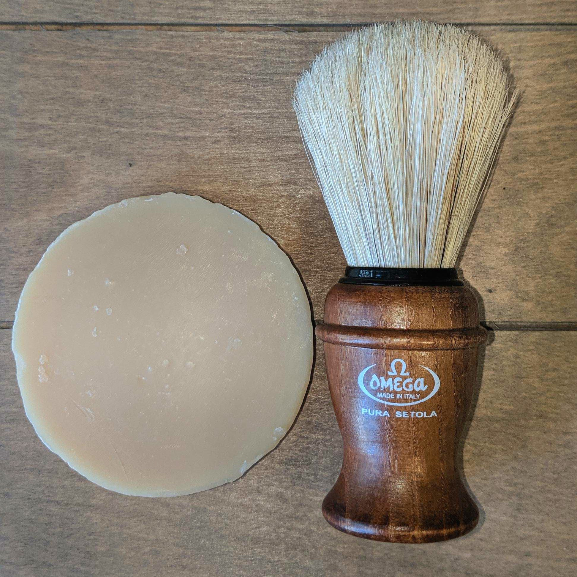 Father's Day Set - Vetiver Shave Puck & Shave Brush