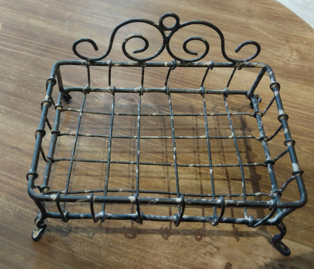 Antiqued Wire Soap Dish