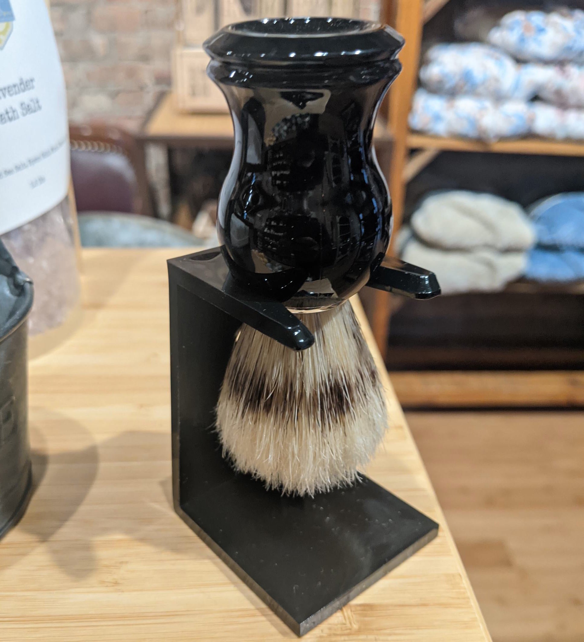 Shaving Brush & Holder Set