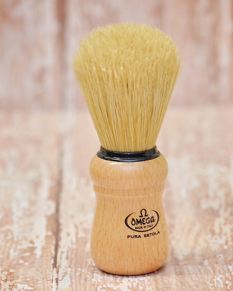 Omega Wood Shave Brush