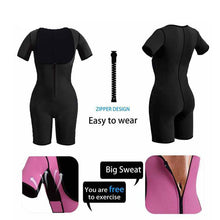 Neoprene Full Body Shaper Slim Leg Sauna Suit Sexy Girl Bodysuit