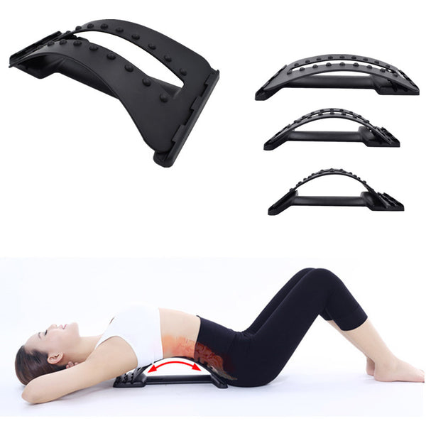 Back Massage Stretcher Magic Lumbar Support Device Spine Pain Relief Chiropractic