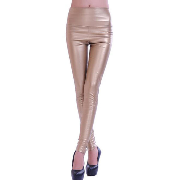 Leggings faux leather high quality slim leggings plus size High elasticity