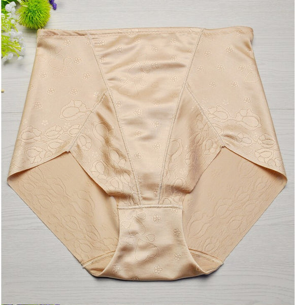 Women Silk Slimming Briefs Breathable Body Shaping Pants Sexy Butt Lifter