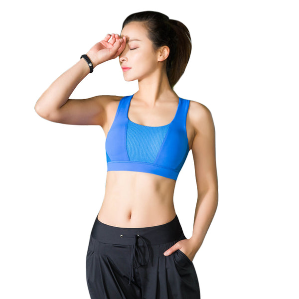 Solid Cross Strap Black Yoga Bra Women Padded Push Up Sports Bra Quick Dry