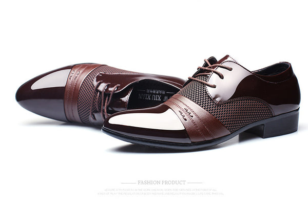 Men Dress Shoes Plus Size Men Business Flat Shoes Black Brown Breathable Low Top Men Formal Shoes