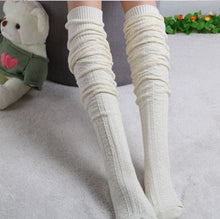 Fashion Sexy Warm Long Cotton Over Knee Stocking Women Winter Knee High Thigh Knitted