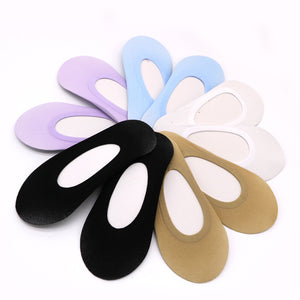 3Pair Invisible Womens Sock Slippers Woman Girls Slippers Socks Short No Show Socks Non-Slip Invisible Boat Socks Summer Meias