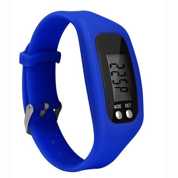 Sports Pedometer Running Step Counter Walking Distance Calorie Counter Pedometer Digital Tracker LCD Fitness Watch Bracelet
