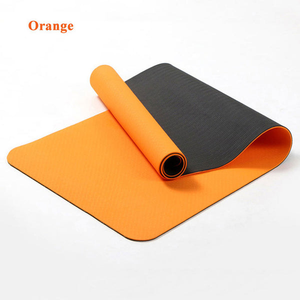 6MM TPE Non-slip Yoga Mats For Fitness Tasteless Brand Pilates Mat 8Color Gym Exercise Sport Mats Pads with Yoga Bag Yoga Strap