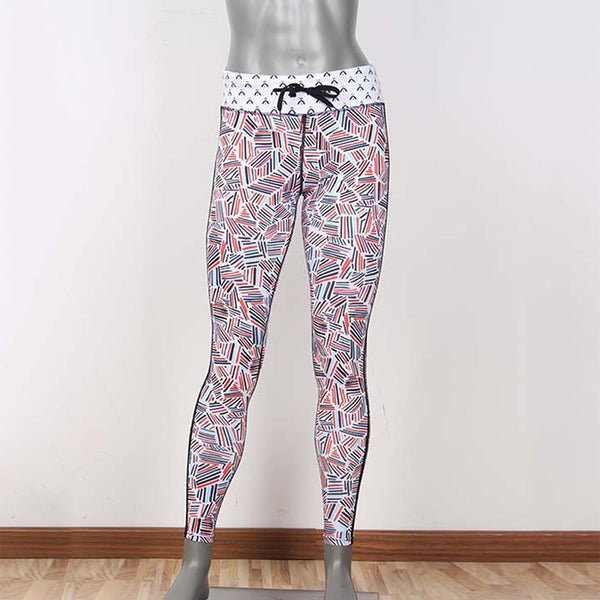 Women Sport Printed Trousers Gym Running High Waist Breathable Workout Leggings