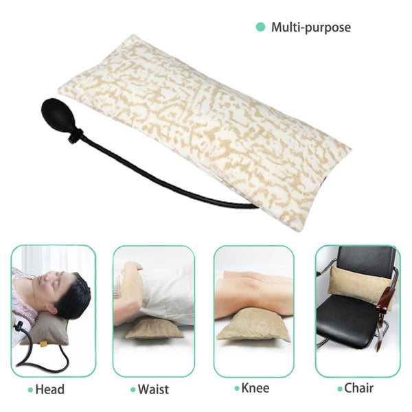 Multifunctional Portable Air Inflatable Pillow for Lower Back Pain,Orthopedic Lumbar Support Cushion, Travel, Waist, Knee