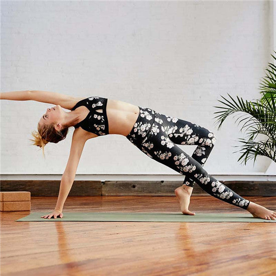 High Waist Compression Pants Sexy Running Floral Print Yoga Tights