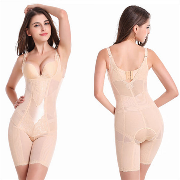 Seamless Shapewear Breathable Postpartum Body Recovery Hip Lifter Abdomen Slimming Breasts Gathered