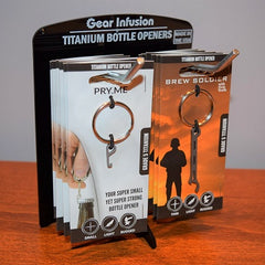 Pry.Me Brew Soldier Bottle Opener 2 Up Display In-Store